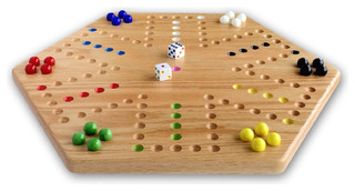 Hand-Painted Wooden Aggravation Game Board, Double-Sided - Asian - Board Games And Card Games ...