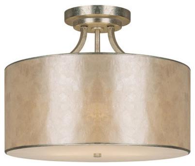 Capital Lighting Luna Winter Gold Semi Flush Mount Ceiling Lighti W/ 3 Light 60w.