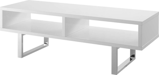 Superieur Edmonton Low Profile TV Stand, White