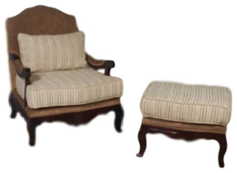 Clovis Lounge Chair And Ottoman Set.