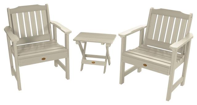 Lehigh 3-Piece Garden Set, Whitewash