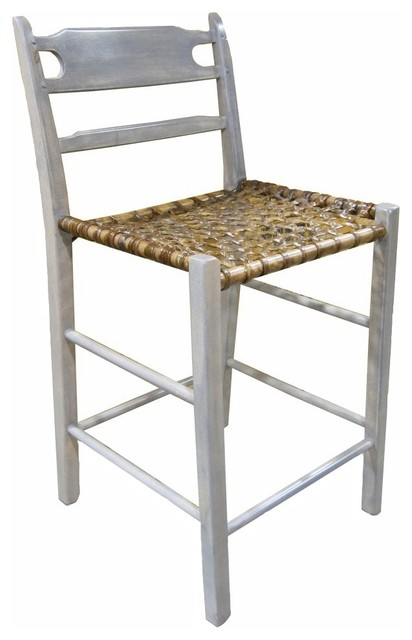 24 Quot Paysanne Counter Stool With Snowshoe Seat Farmhouse