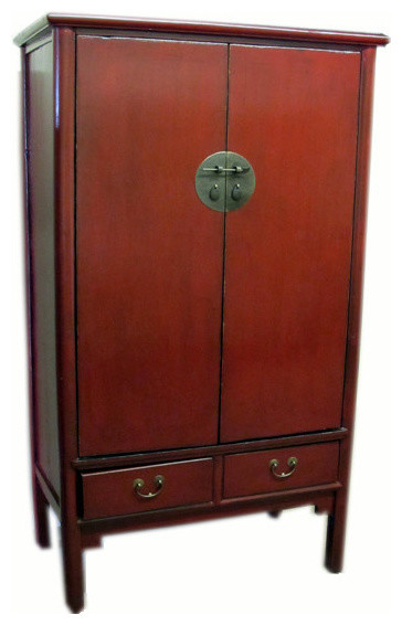 Dyag East Consigned Antique, Red Lacquer Noodle Cabinet - Entertainment Centers And Tv Stands ...