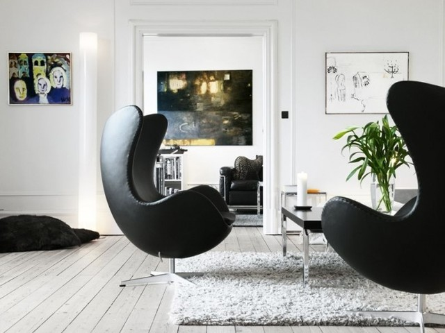 arne jacobsen egg chair in modena black by rove concepts modern living room replica egg chair arne