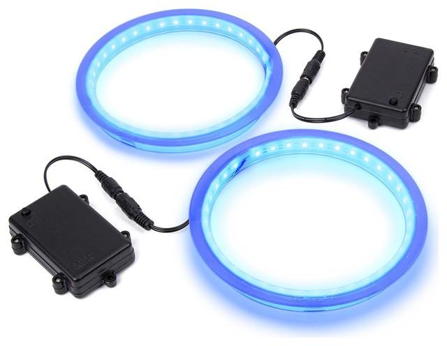 GoSports Cornhole Light Up LED Ring Kit - Compatible with All Cornhole Games, Bl