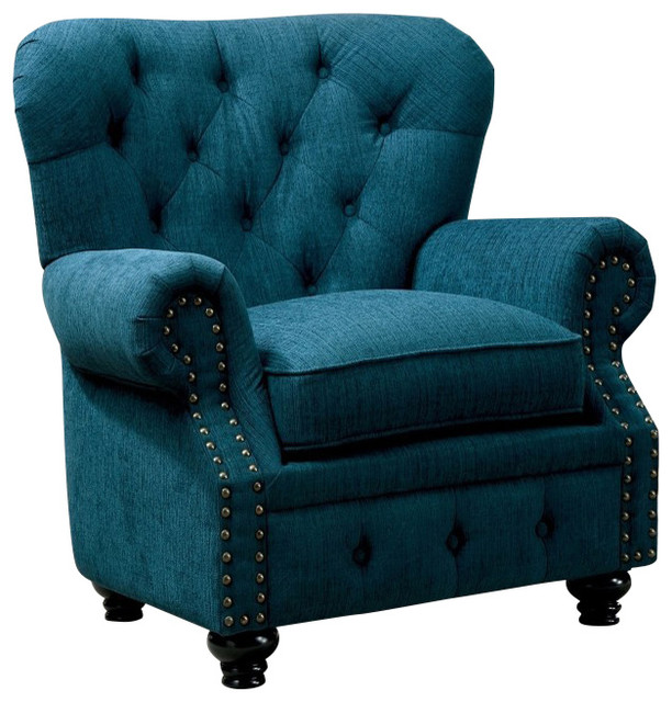 Stanford Armchair, Teal - Contemporary - Armchairs And ...