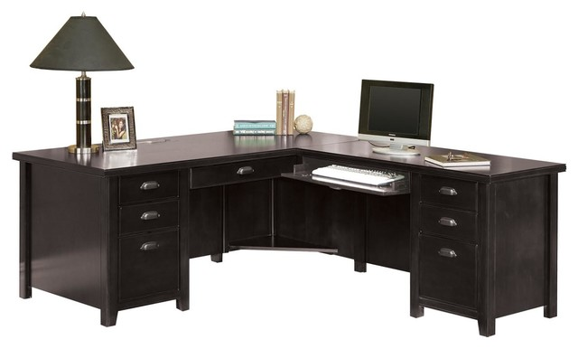 Charmant Nolita Loft Executive L Shaped Desk, Black