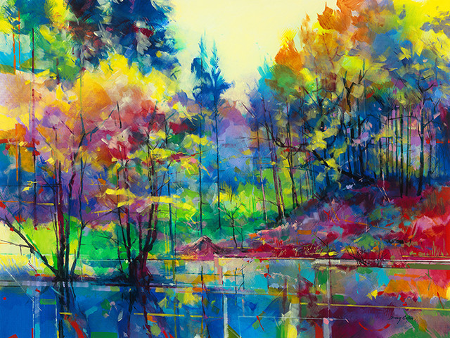 """Meadowcliff Pond"" Canvas Print by Doug Eaton, 80x60 cm"