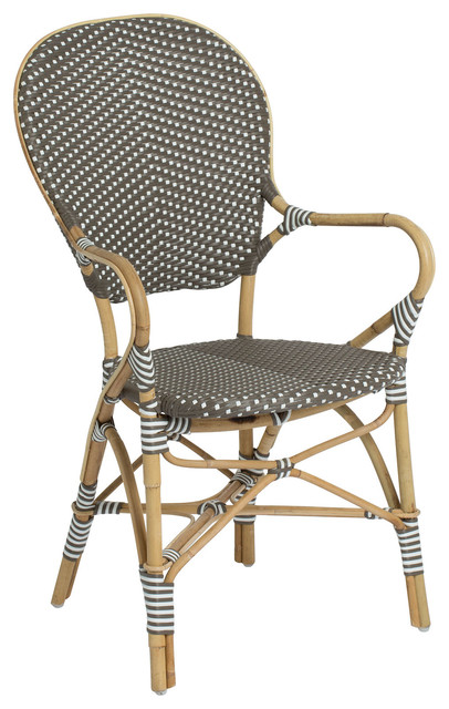 Outdoor Bistro Stacking Arm Chair