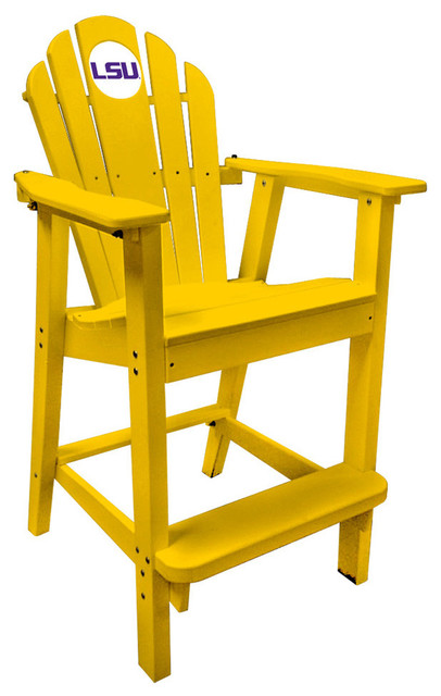 Lsu Tigers Yellow Captains Pub Chair Craftsman Outdoor