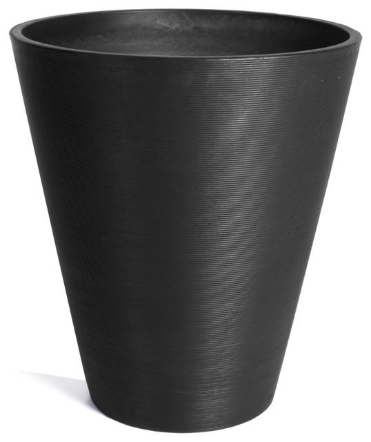 Veradek Kobo Round Planter Contemporary Outdoor Pots