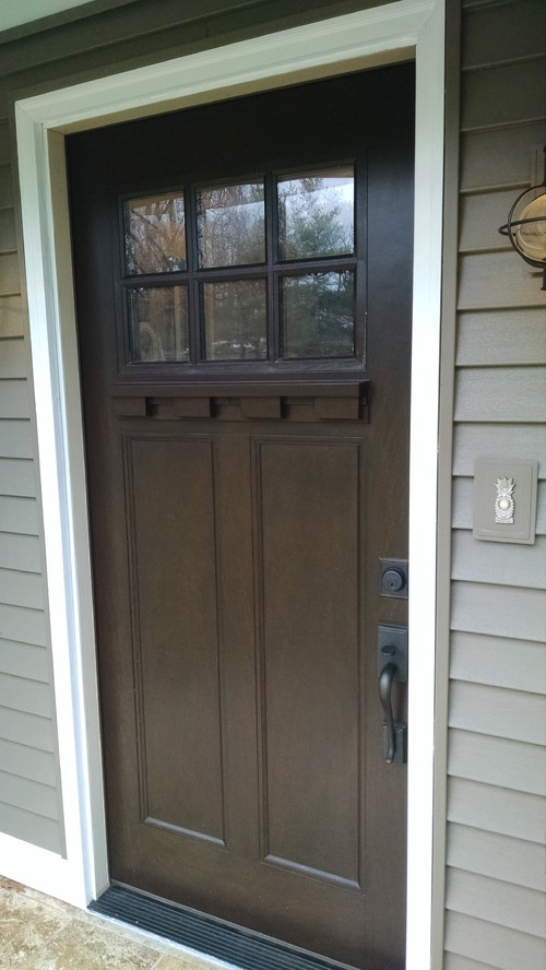 Looking for a very thin frame storm door for Front door with storm door