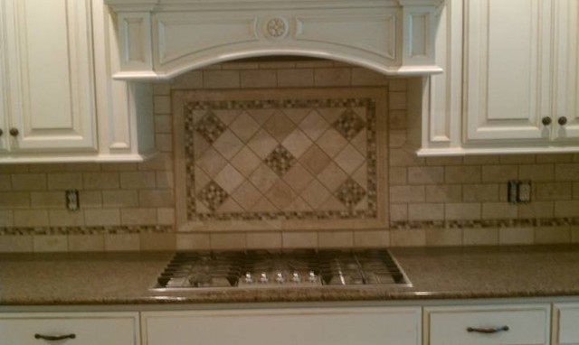 Glass and travertine backsplash - Backsplash designs travertine ...
