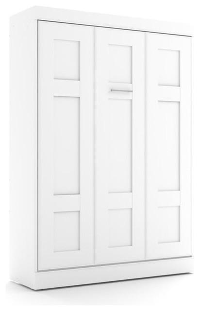 Bestar Edge Full Wall Bed In White