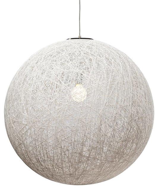 String 30 Single Bulb Pendant Lamp White.