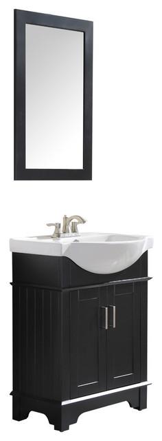 Montbrun 24 Bath Vanity Set, Rich Black.