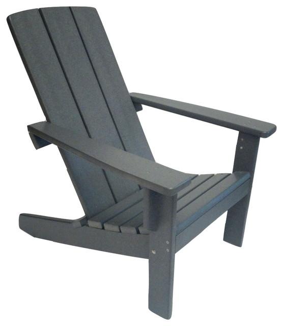 modern poly adirondack chair - contemporary - adirondack chairs