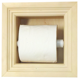Diamond Recessed Toilet Paper Holder Ii - Transitional - Toilet Paper Holders - by WG Wood Products