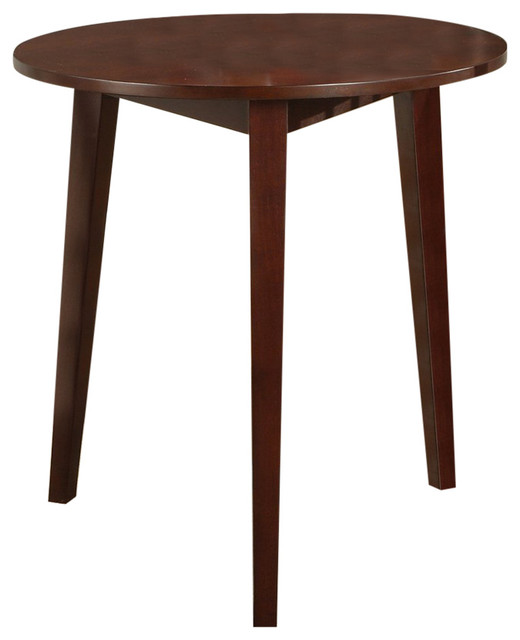 Evans Round Wood Table, Cherry Finish Dining Tables