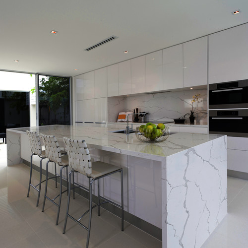 Mont Quartz EnvyMarble look with low maintenance and  : home design from www.houzz.com size 500 x 500 jpeg 51kB