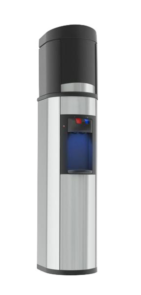 Absolu Water Cooler, Stainless Steel With Black Trim, Hot & Cold Water
