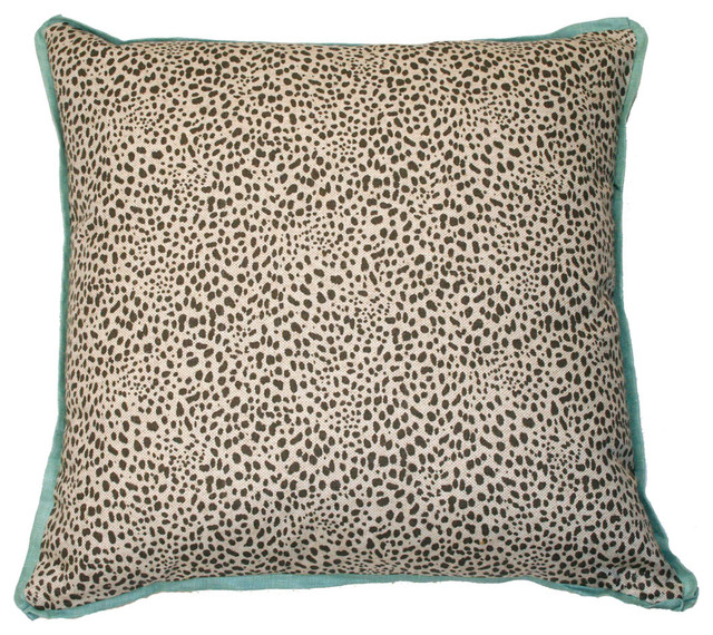 Cub Fossil Pillow, Aqua