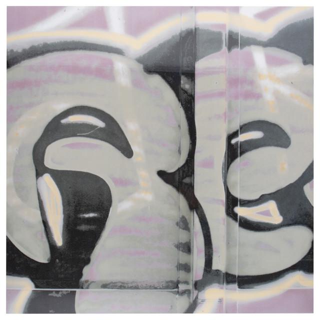 "Somertile 17.38""x17.38"" Graffiti Porcelain Floor And Wall Tiles, Set Of 5."