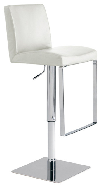 Matteo Adjustable Stool White contemporary bar stools and counter stools