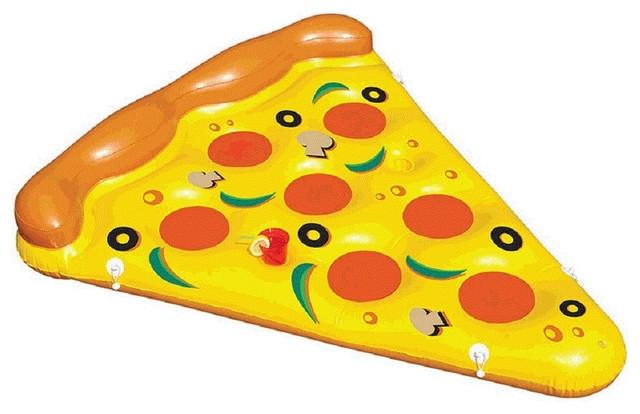 Haute Float Pepperoni Mushroom Olives Giant Pizza Slice Inflatable Pool Tube.