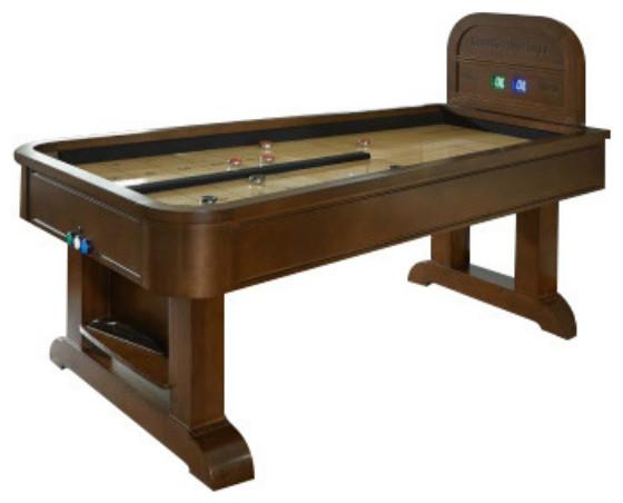 Merveilleux Rebound Shuffleboard Table W/Accessories By American Heritage Billiards