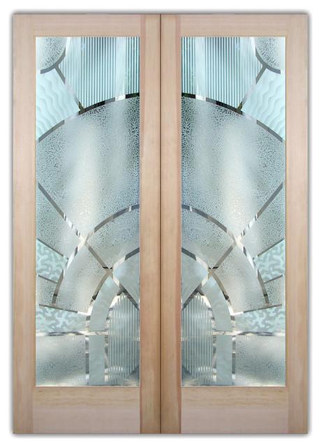 Interior Glass Doors Sans Soucie Art Glass Matrix Arcs 3d Pair.