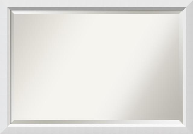 Bathroom Mirrors By Size bathroom mirror, blanco white - contemporary - bathroom mirrors