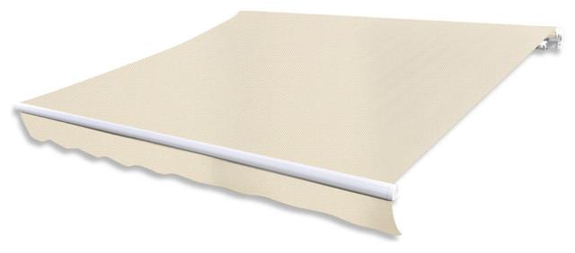 Folding Awning 13&x27;x10&x27; Cream.