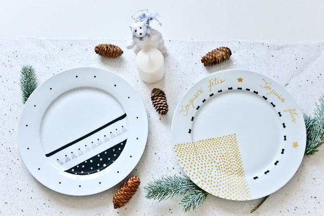 Mes assiettes des fêtes modern-dining-room