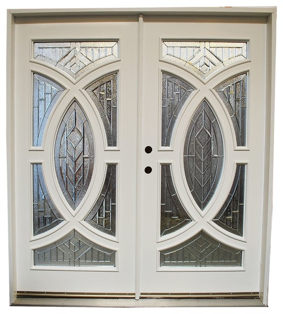Mahogany Exterior Front Wood-Two-Tone-Entry Door, Right Hand Swing ...