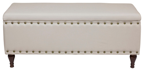Peyton Storage Bench, Off White