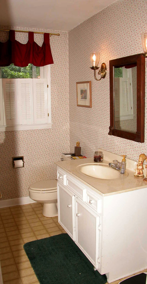 Bathroom Makeover For Under $1000 affordable powder room makeover = amazing difference