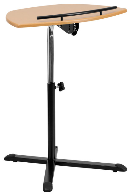 Mfo Height Adjustable Natural Laptop Computer Desk.