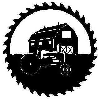 Barn Tractor Metal Sawblade Black Farmhouse Metal Wall