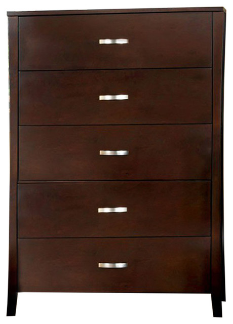 Roomy Contemporary Style Wooden Chest, Brown.