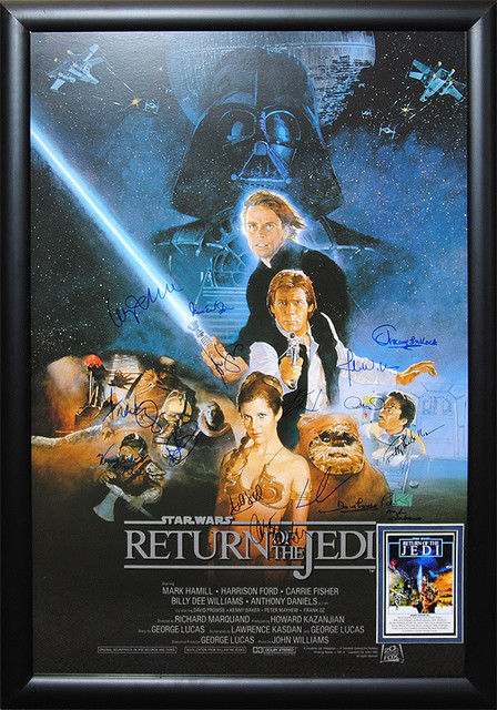 Luxe West Star Wars Return Of The Jedi Signed Framed