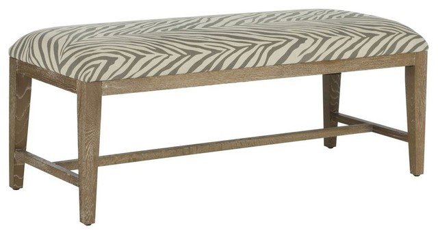 Zambia Bench, Gray And Beige. -1