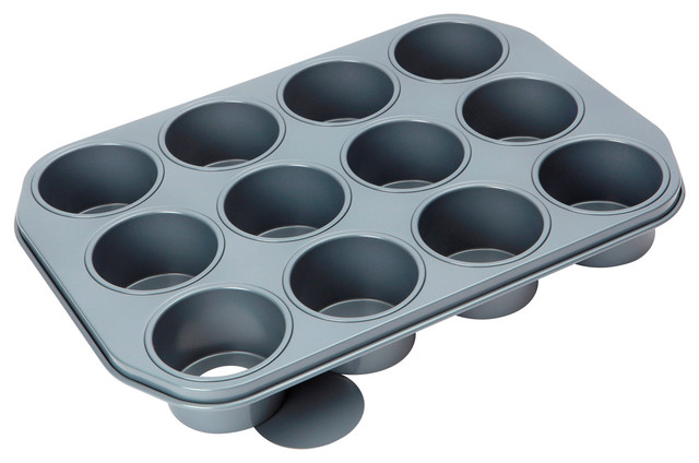 Baker's Pride Professional 12 Round Cup Loose Base Dessert Pan