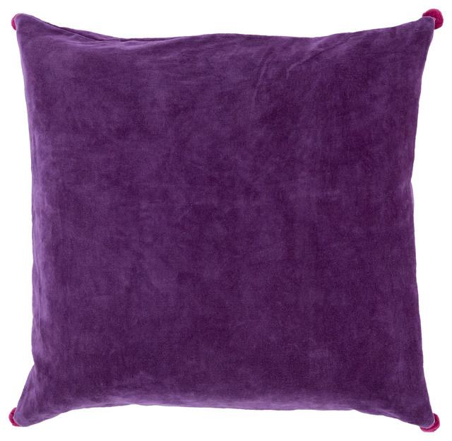 Cotton Velvet Decorative Pillows : Square Cotton Velvet Pillow VP-002 - Contemporary - Decorative Pillows - by zopalo