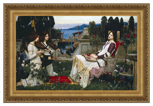 """""""st Cecilia 1895"""" Stretched Canvas Replica, 15""""x11.5""""."""