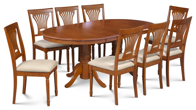 M d furniture llc 9 piece dining room set table with a for 9 piece dining room set with leaf