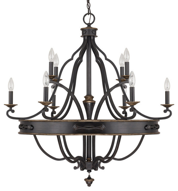 capital lighting the wyatt collection 10 light chandelier - Capital Lighting