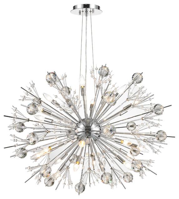 Modern sputnik starburst modern chandeliers houzz crystal lighting palace starburst atomic chandelier chandeliers aloadofball Gallery