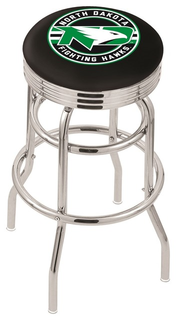 Sensational 25 Chrome Double Ring North Dakota Swivel Stool With 3 Accent Ring Theyellowbook Wood Chair Design Ideas Theyellowbookinfo