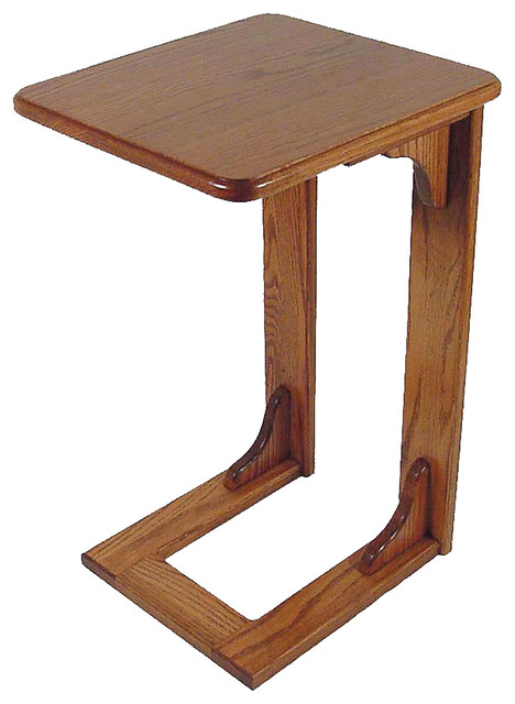 High Quality Amish Made Oak Over The Arm Sofa Table, Sofa Tray Traditional Side Tables